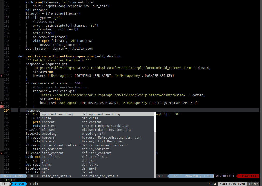 vim with auto complete from YCM