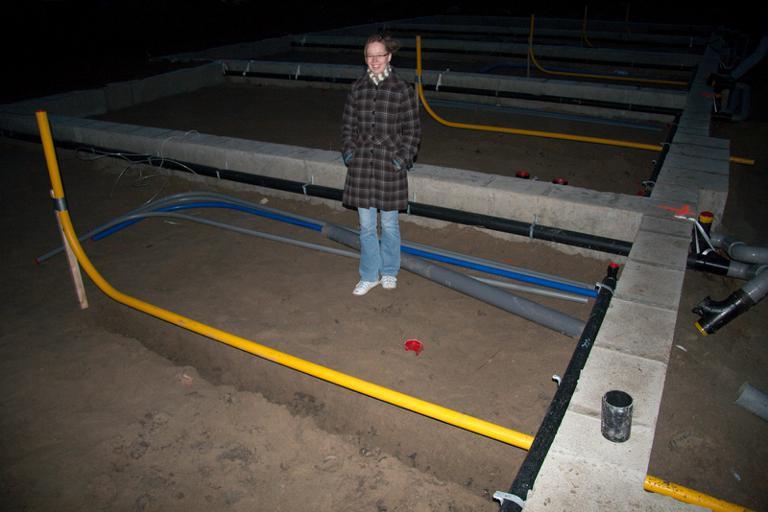 Legging grondplaat