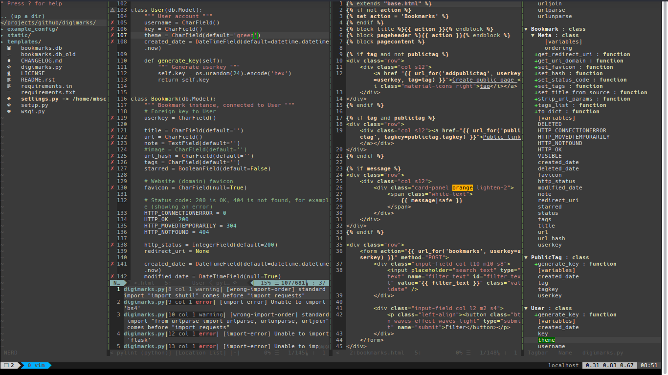 vim as python IDE